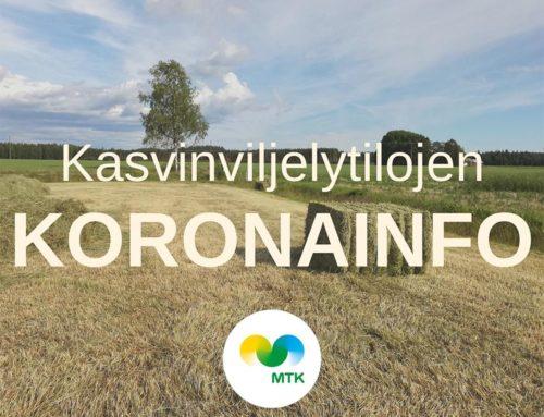 MTK Pirkanmaan kasvinviljelytilojen koronainfo 17.4.2020
