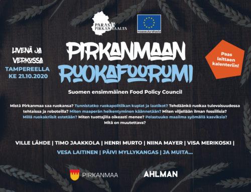 Pirkanmaan Ruokafoorumi käynnistyy lokakuussa