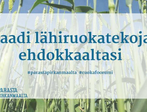 Tiedote medialle ja äänestäjille: Pirkanmaan Ruokafoorumin lähiruokahaaste ehdokkaille