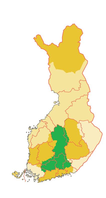 Hämeen alue kartalla