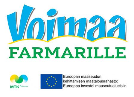 Voimaa farmarille -hankkeen tekstilogo