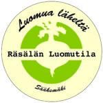 logo, Räsälän Luomutila, ympyrässä juures
