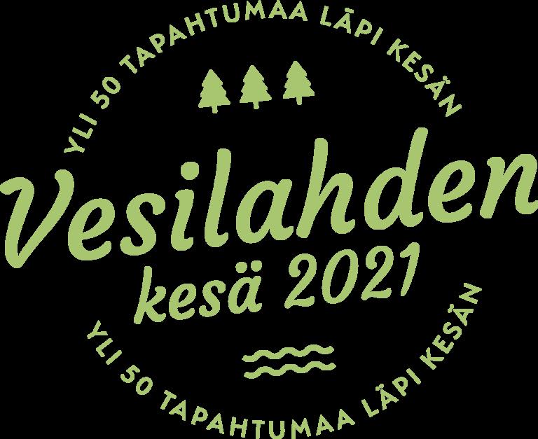 vihreällä tekstillä Vesilahden kesä 2021