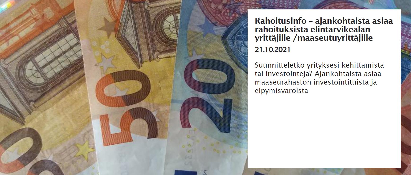 50:n ja 20:n euron seteleitä